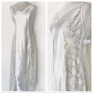 NWT Frederick's of Hollywood Slip Ivory Dress M